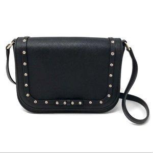 Kate Spade Black Sparkle Bow Crossbody Purse Bag